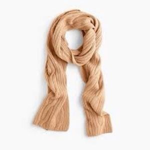 nwt jcrew cable knit scarf in cashmere k2545